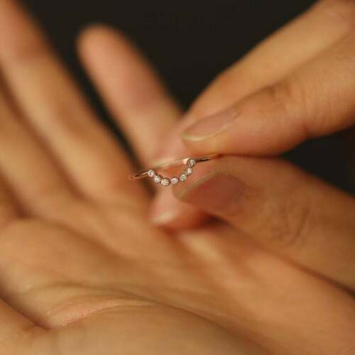 Diamond Ring Enhancer, Diamond Wedding Engagement Band Enhancer, Stackable Ring