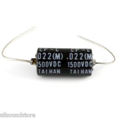 "NEW Taihan ""Black Bee"" Oil-Paper Tone Capacitor Cap  .022 uF 1500 Volt"