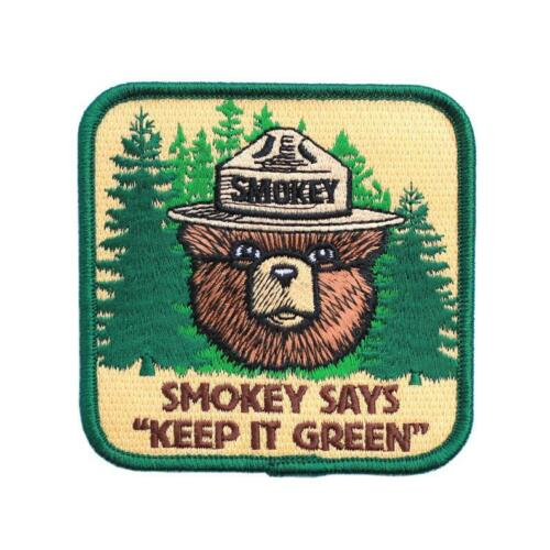 Official Smokey Bear Iron on Patch Keep it Green US Forest Service Smoky the