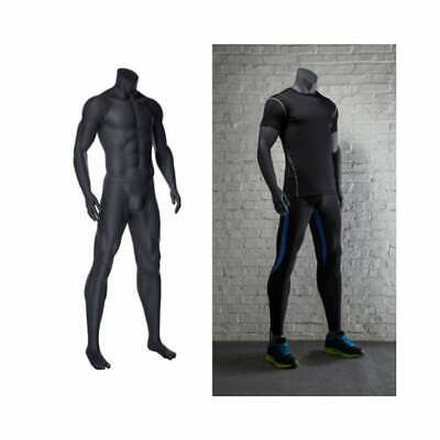 Headless Adult Male Athletic Muscular Fitness Standing Mannequin With Base