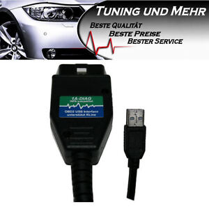 OBD2 Diagnose USB BMW Ediabas/Inpa/Ncsexpert INTERFACE + Codier-Anleitung
