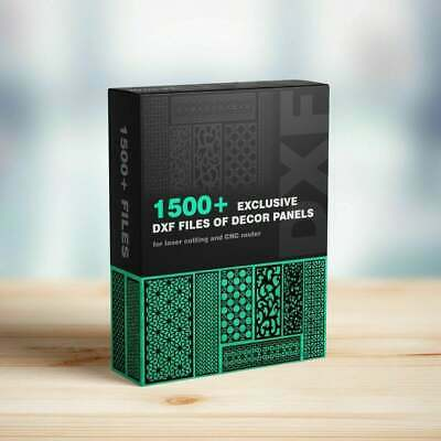 1500 Dxf Cdr Files Pack Art Decor Panel Cnc Router Laser Plasma Waterjet