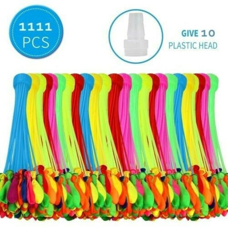 1111Pcs 30 Bunch O Instant Water Balloons, Rapid-Fill, Self-Sealing,Already Tied
