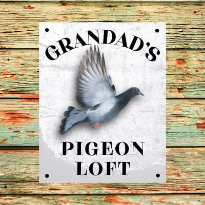 Grandads's Pigeon Loft Sign Makes Great Xmas Birthday Gift Pre Drilled