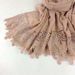 elegant cotton embroidered lace scarf,shawl,hijab