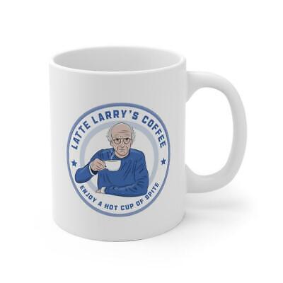 Curb Latte Larry David Mug Curb Your Enthusiasm Enjoy A Hot Cup Of Spit Funny...