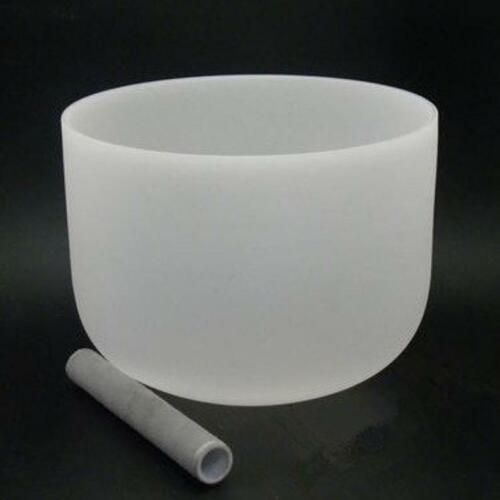 12inch Frosted Quartz Heart Chakra Crystal Singing Bowl with Free mallet &O-ring