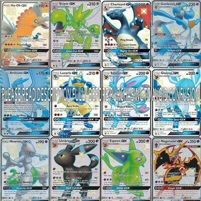 Pokemon Card Lot 100 OFFICIAL TCG Cards  Rares Included. GX EX Mega + HOLOS L@@K