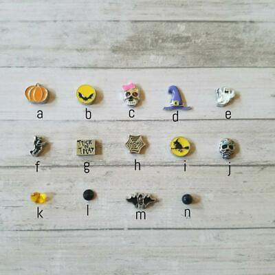 Halloween Floating Charms (HALLOWEEN Floating Charms for Living Memory Lockets ghosts witch skullls &)