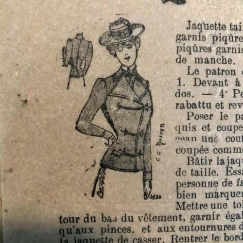 Jacket | Vintage 1890s Sewing Pattern | Petit Echo de la Mode