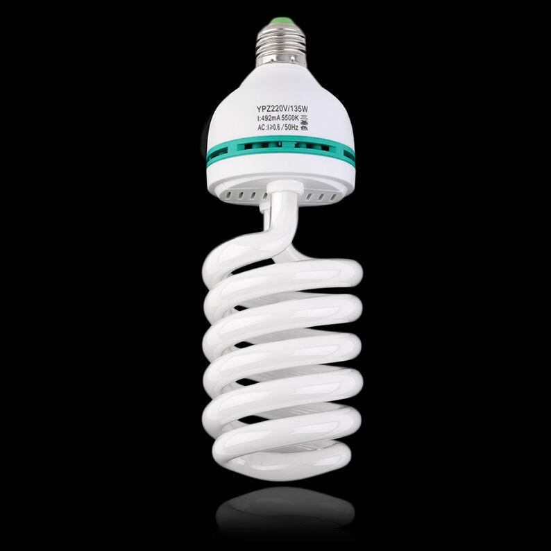 2PCS 135W 5500K E27 Photo Studio Bulb Video Light Photography Daylight Lamp