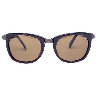 "Jean Paul Gaultier 56 0272 square brown steampunk sunglasses w ""Eiffel"" temple"