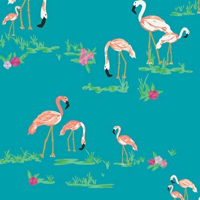 Art Gallery Quilt Fabric West Palm Collection Flamingo Field in Marina 1/2 yard - Flamingos In Yard