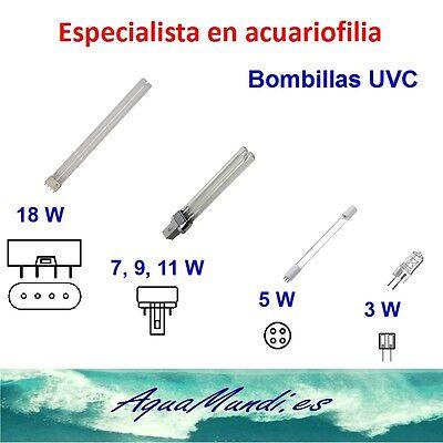 bombilla germicida UV C SUNSUN 11 w lampara acuario luz algas plagas...