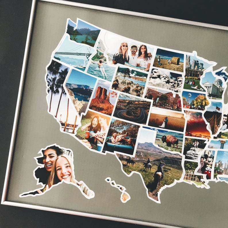 Us Map Photo Collage USA 50 States Photo Map   United States of America Travel Picture