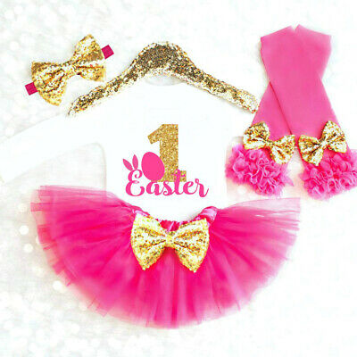 3 STÜCKE Baby Mädchen Mein 1. Ostern Outfits - Baby Ostern Outfits