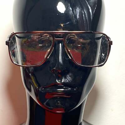 Gucci GG1211 brown metal aviator eyeglasses frames made in Italy, 1980s NOS