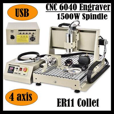 Usb 4axis 1.5kw Cnc 6040z Router Engraver Desktop Milling Machinecontrol Box