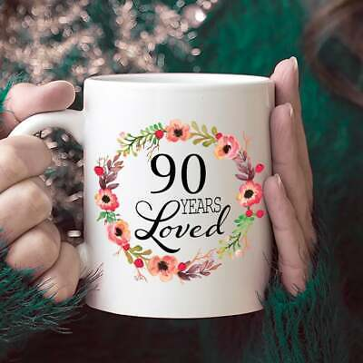 90th Birthday Gifts for Women - 90 Year Old Female - 90 Years Loved Since