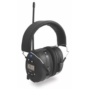 Ion Radio Ear Defenders Protection Headphones AM/FM Rechargeable Bluetooth