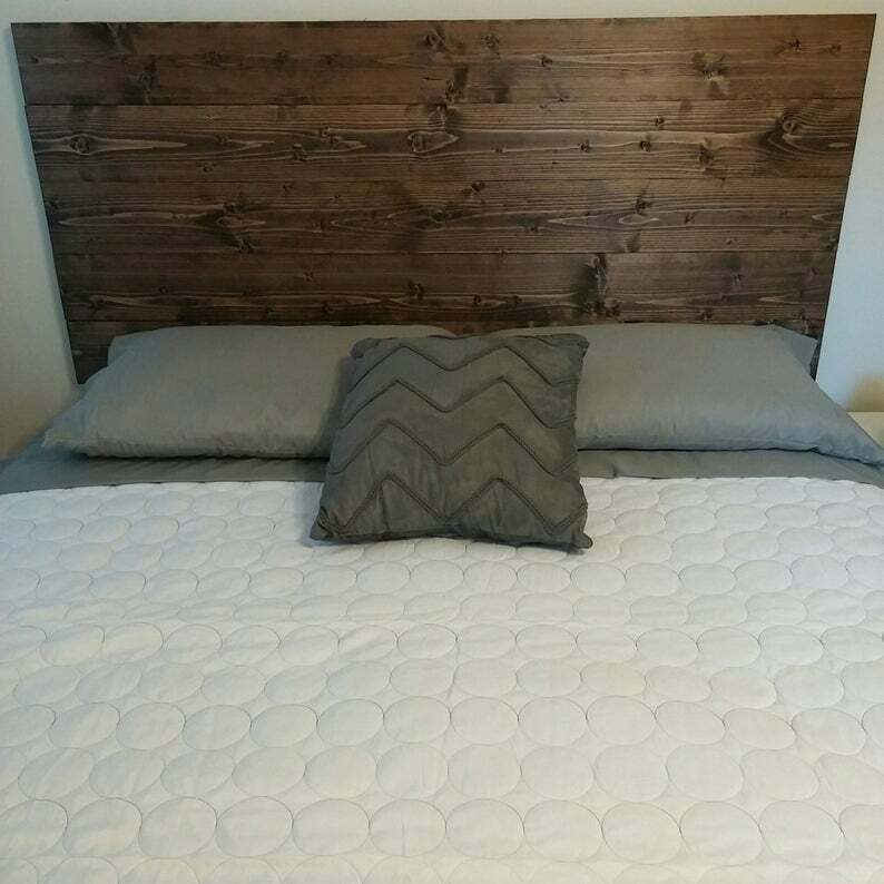 Wood Bed Headboard Wall Mounted Wall Hanging Wooden Rustic F