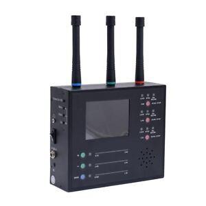 TriBand Wireless Spy Camera Hunter RF Bug Detector Video Cam Scanner/Viewer TSCM