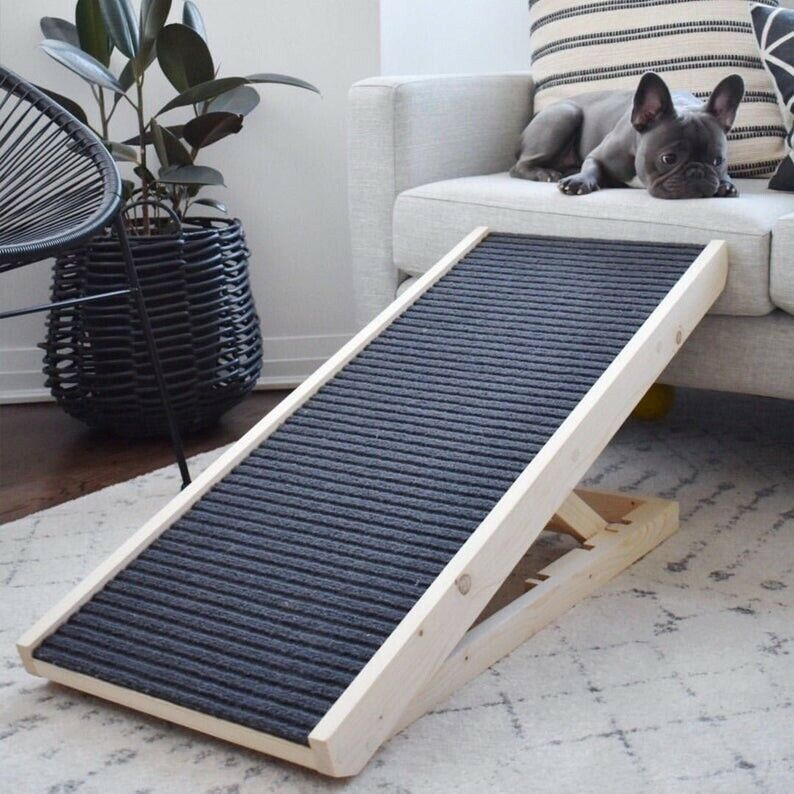 """PawRamp - Dog Ramp - 4 Adjustable Heights Bed/Couch - Pet Ramp 40"""" - Folds Flat"""