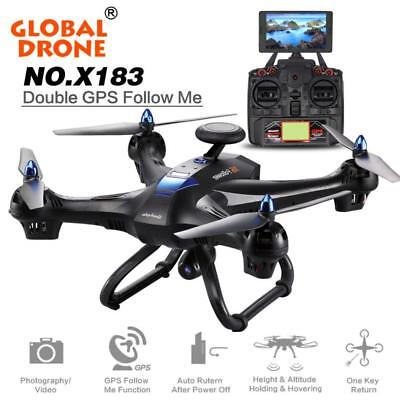 Global Drone 6-axes X183 With 2MP WiFi FPV HD Camera GPS Brushless Quadcopter AU
