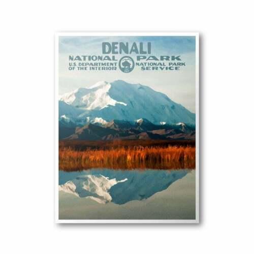 Denali National Park Poster, Denali National Park Print Poster, Home Decor