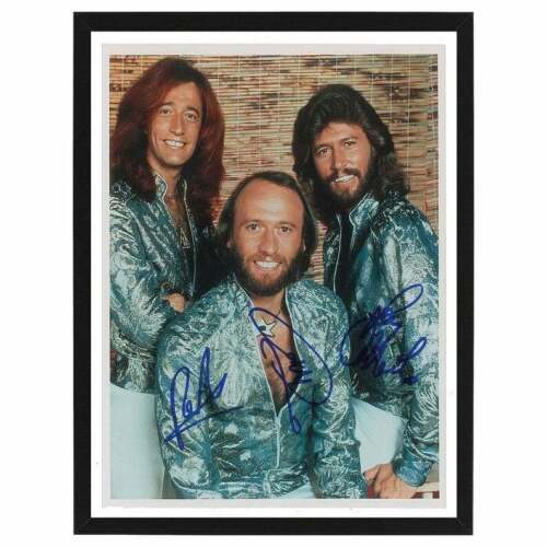 FRAMED Bee Gees Signed / Autographed Photo Print