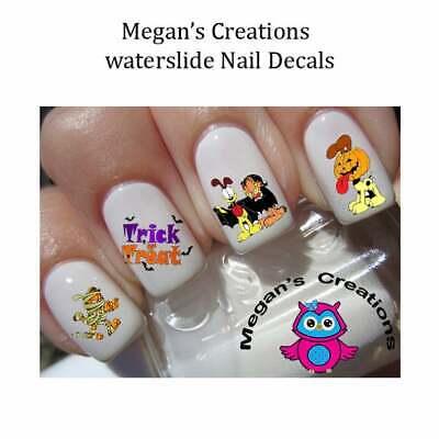 HALLOWEEN Garfield Trick or Treat Design 2 Nail Art Decals - Design Nails Halloween