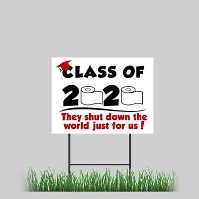 Graduation Yard Sign Senior 2020 24x18 - Includes H-stake Toilet Paper