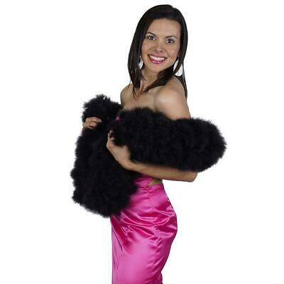 SWAN FEATHER BOA - BLACK 12