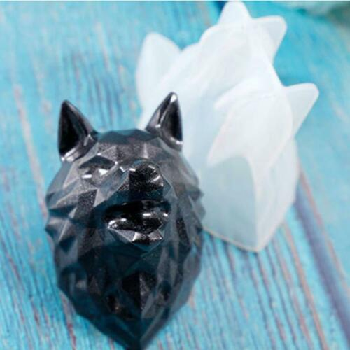 Wolf Head Silicone Mold | UV Resin Epoxy Resin Mold DIY craft tool supplies