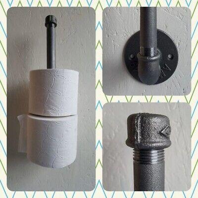 1 Temperguss Toilettenpapierhalter für 3 Rollen Industrielook Modern Stahlrohr