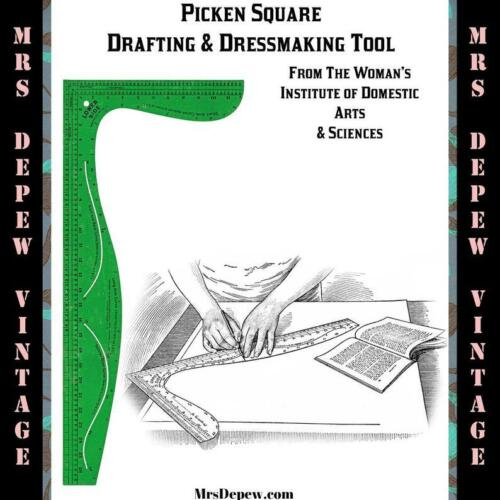 Picken Square Tailor Sewing Pattern Drafting Dressmaking Tool Paper Reprint