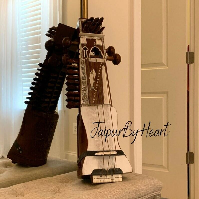 Sarangi - Beautiful Handcarved Traditional Indian String Music Instrument