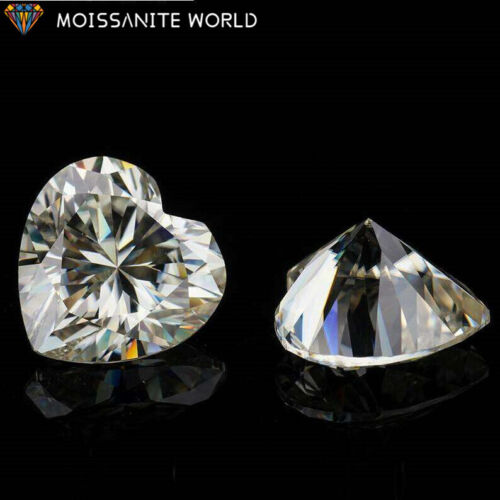 White D Color VVS Heart shape Loose Moissanite Stone with certificate