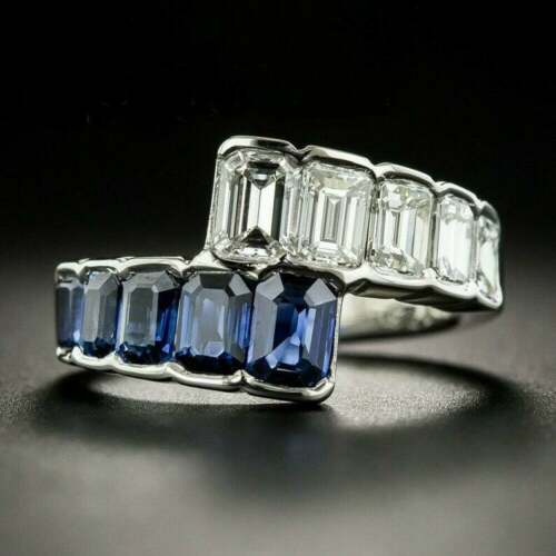14K White Gold Sweeping Engagement & Wedding Amazing Ring 2.2 Ct VVS1 Diamond