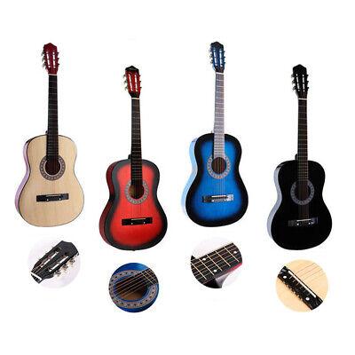 Beginners Guitar Acoustic Kit W/Guitar Case Strap Tuner Pick Steel Strings 38''