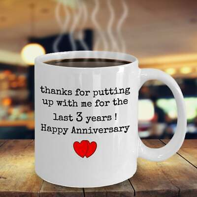 3rd Anniversary Gift For Husband 3 Year Anniversary Gift For Him Funny Wedding  ()