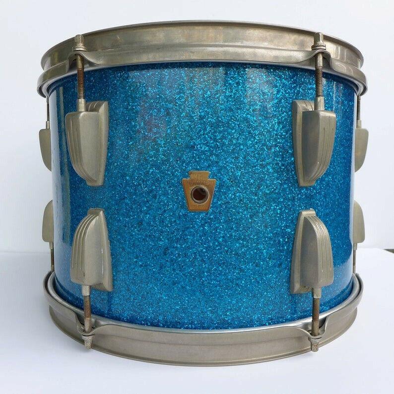 Rare Vintage 1950s WFL 13x9 Aqua Blue Sparkle Tom