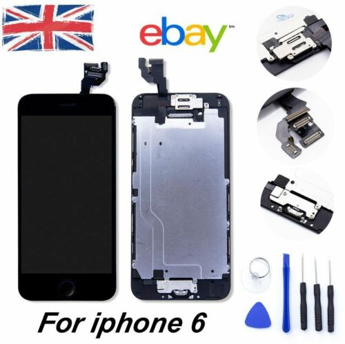 "iPhone 6 4.7"" Replacement Digitizer LCD Touch Screen Black Home Button Camera"