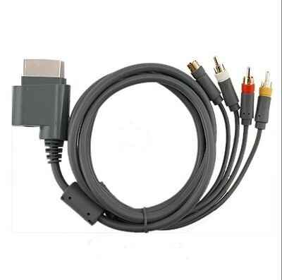 NEW S Video Composite AV RCA Cable Cord for For Microsoft Xbox 360 TV -