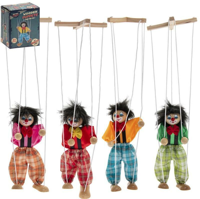Retro Dancing Wooden Puppet
