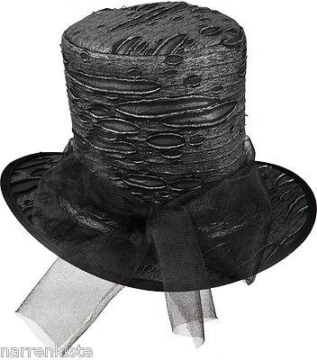 Halloween Zylinder Hut Totengräber Gothic Vampir Kostüm Herren Halloweenzylinder