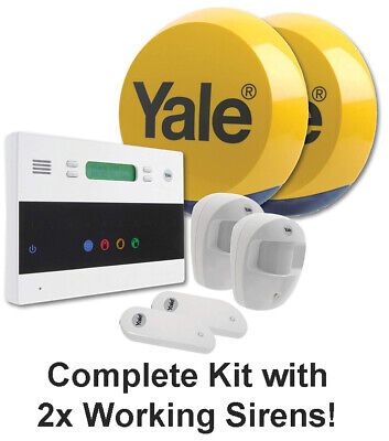 Yale Easy Fit Pet Friendly Telecommunicating Alarm System with 2x Working Sirens for sale  Shipping to Ireland