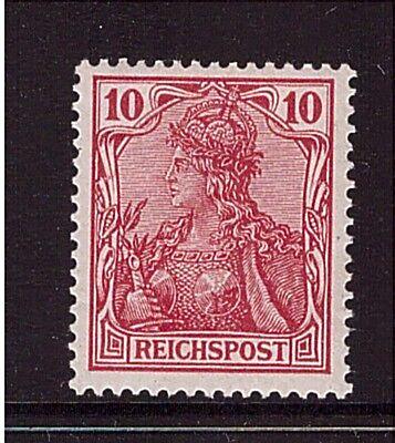 Deutsches Reich 56 b ungebraucht, geprüft, REICHSPOST  seltene Farbe (21508)