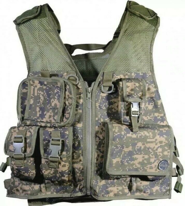 Tippmann Pro Vest camo paintball mesh loaded with pouches digicam NEW One Size