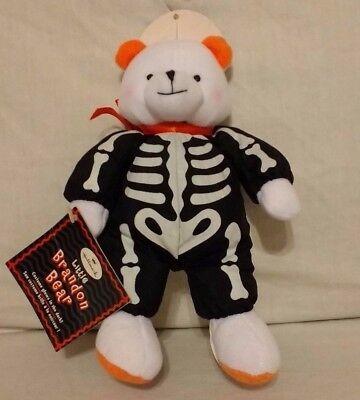 Little Brandon Bear Glow in the Dark Skeleton Costume Hallmark with all tags 8